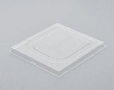 Deckel f. Eisb. 2,5 transpar. 190x170x12 mit Clip HIPS