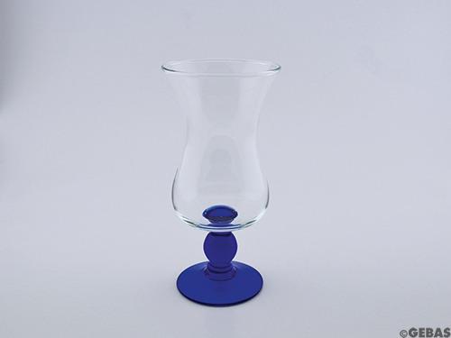 Glas G1-1826B 500ml blau Angel, H21,5cm/Ø10,5cm
