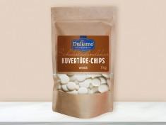 Kuvertüre Chips Weiß 38-40, Ø12-18mm 6x1kg DULIAMO