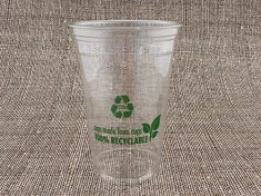 100% Recyclable Clearcup 16oz rPET 550ml randvoll, Ø95mm H133mm