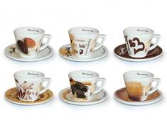Design Tassen Schokolade 6 verschiedene Design im Pack