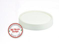 I-750/1000 Druck-Papp-Deckel f. Becher mit Farbrand ohne Spaten