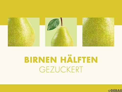 Birnen-Hälften gezuckert 24 x 1/1 Dosen