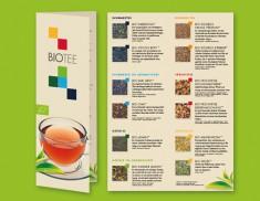 Bio-Tee Menukarten 12 Sorten Pack a 10 Stück