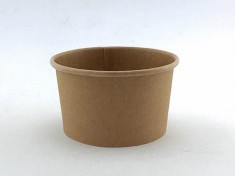 CupPap light Kraft Pappbecher 360 360ml randvoll, Ø105mm, H61mm