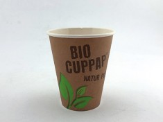BioCupPap Hot 200 (8oz) einwandig 260ml randvoll, Ø80mm, H91mm