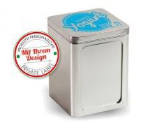 Druck-Servietten-Ständer VIP Metall weiß/silber für 17x17