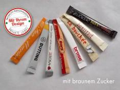 Druckzuckersticks, 4gr Krt a 1000 Stk brauner Zucker