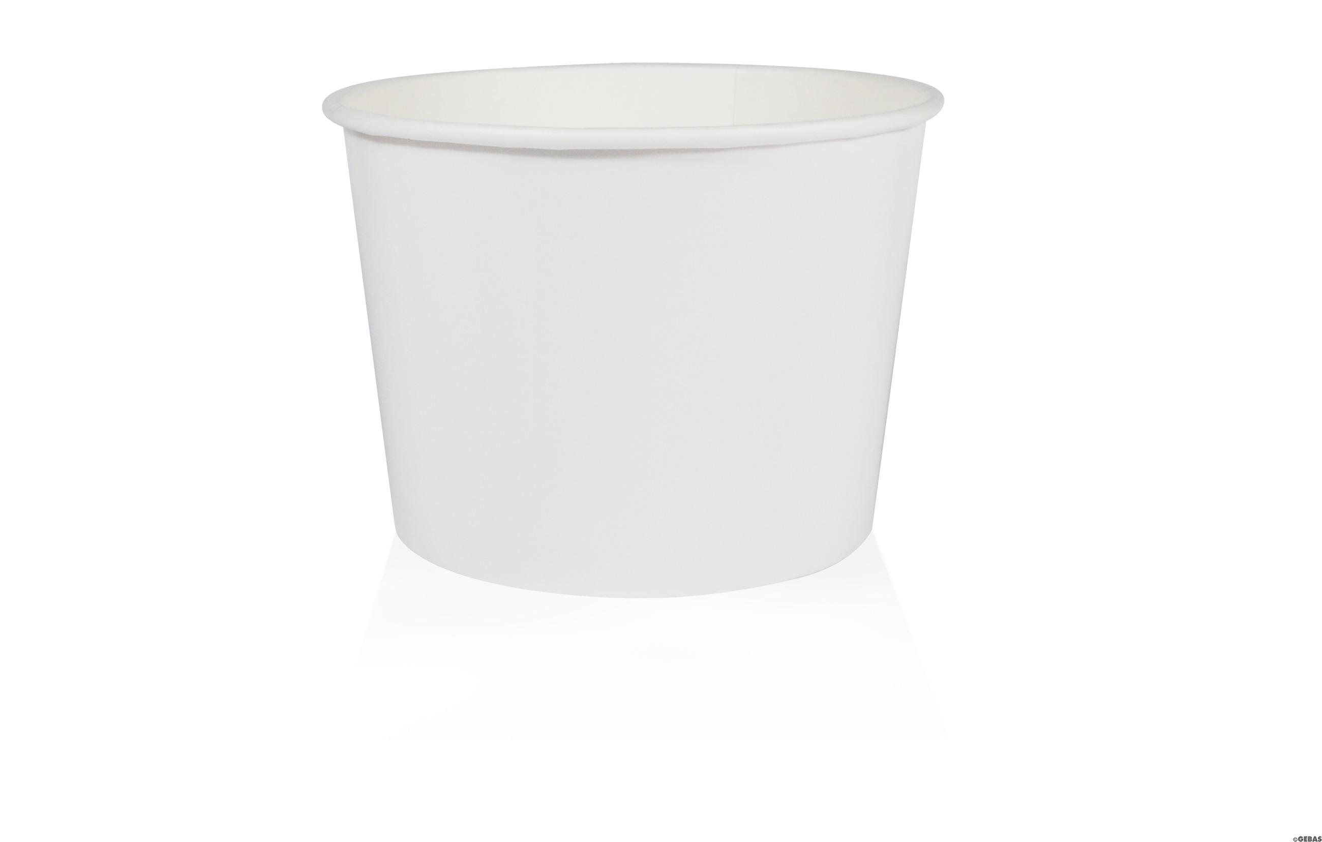 weiße Pappbecher W500(GE-4M) 500ml randvoll, Ø110mm, H79mm