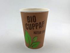 BioCupPap Hot 300 (12oz) einwandig 420ml randvoll, Ø90mm, H112mm