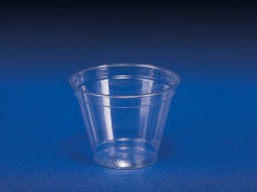 Clear Cup 200/250 flach 9oz PET 280ml Ø95mm H72,8