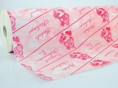 Thermopapier spattolato rosa pelleaglio 50cm, 45/50 gr.