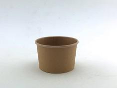 CupPap light Kraft Pappbecher 115 125ml randvoll, Ø75mm, H47mm