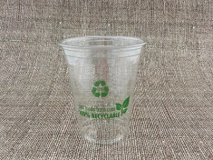 100% Recyclable Clearcup 12oz rPET 425ml randvoll, Ø95mm H108mm
