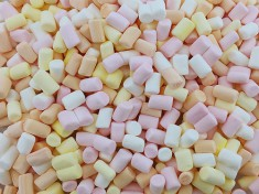 Mini-Marshmallows, 4-frbg. 11mm, 0,1gr., 4x1kg