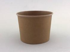 CupPap light Kraft Pappbecher 470 470ml randvoll, Ø105mm, H78mm