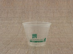 Bio Clear Cup 200/250 flach 9oz PLA 280ml randvoll, Ø95mm H72,8mm