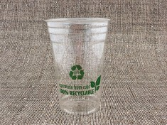 100% Recyclable Clearcup 20oz rPET 650ml randvoll, Ø95mm H150,6mm