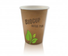 BioCup Hot 200 (8oz) einwandig 260ml randvoll, Ø80mm, H91mm