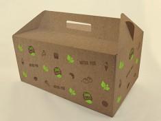 Bio Tragekarton Good Food 6er 33,6x22,8x15,8 ungebleicht