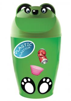 Aufkleber für Mülleimer Brik Motiv 'Plastic'