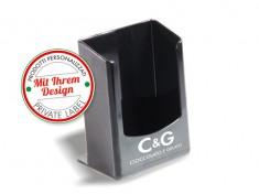 Druck-Servietten-Ständer Tavolino weiß/schwarz für17x17