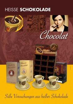 Werbeplakat Din A 2 Heiße Schokolade