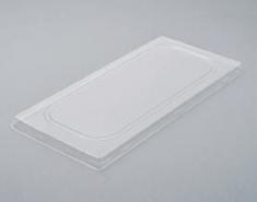 Deckel Eisbeh. 5l Clip 180Stk 370x175x10 PVC transparent